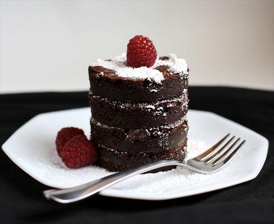 Flourless Chocolate Fudge Truffle Cake: No Separating Eggs!