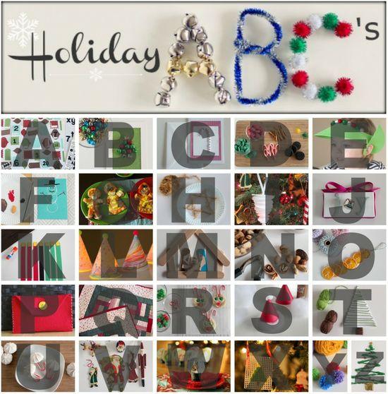 Holiday ABC #kidscrafts @MakeandTakes.com.com #christmas #holiday #DIY