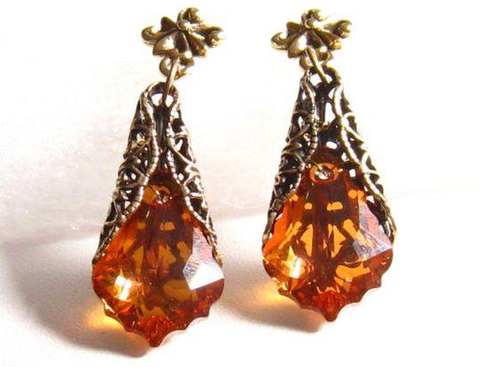 Orange Wedding Jewelry Romantic Victorian