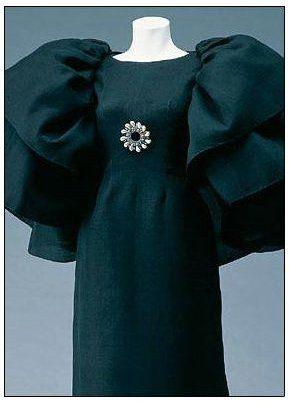 Silk gazar dress 1964 by Balenciaga.