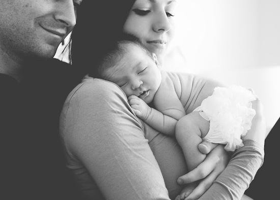 sweet newborn family pic