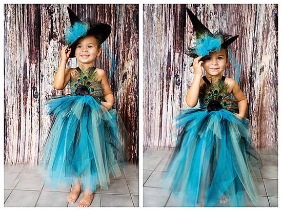 Peacock costume without the witch hat