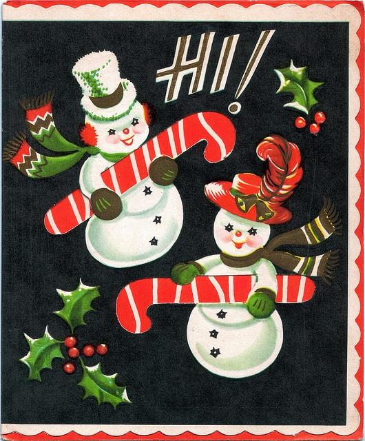 i love this fun vintage Christmas card. HI!