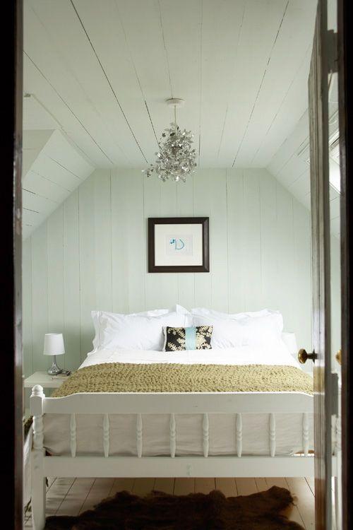 cabin bedroom- I love cozy little spots!