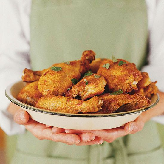 You'll love this low calorie Oven-Fried Parmesan Chicken! More Heart- Healthy Chicken Dishes: www.bhg.com/...