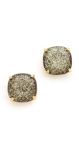 glitter stud earrings / kate spade