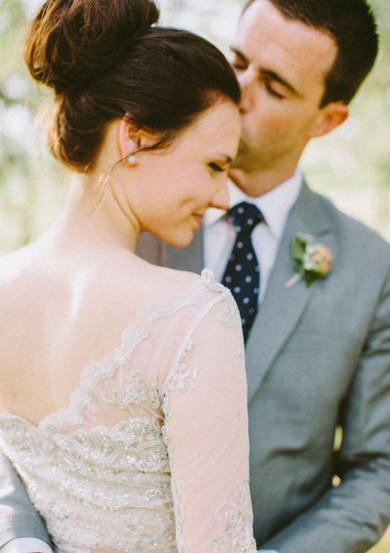 Romantic lace wedding dress