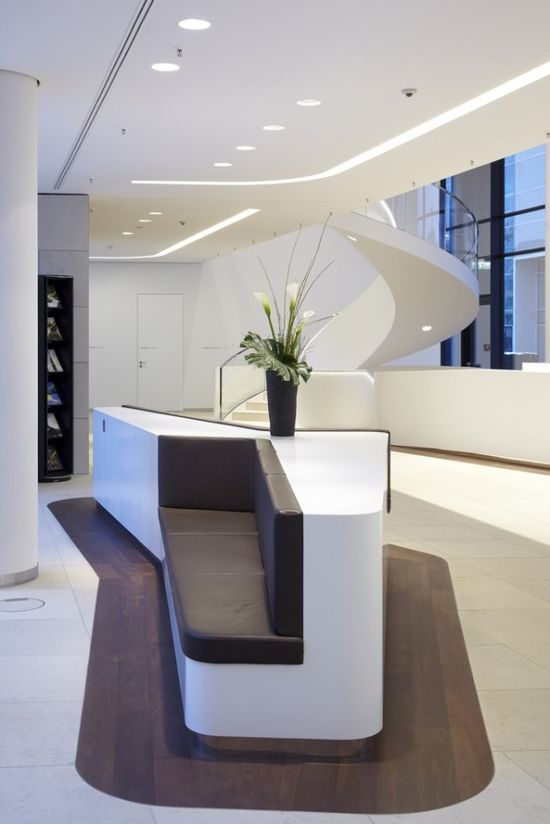 This has some interesting interplay between the various elements.  The lobby could have some of these clean elements in a modern design.  ICADE Premier House new offfice design, Munich, Germany by landau + kindelbacher architekten