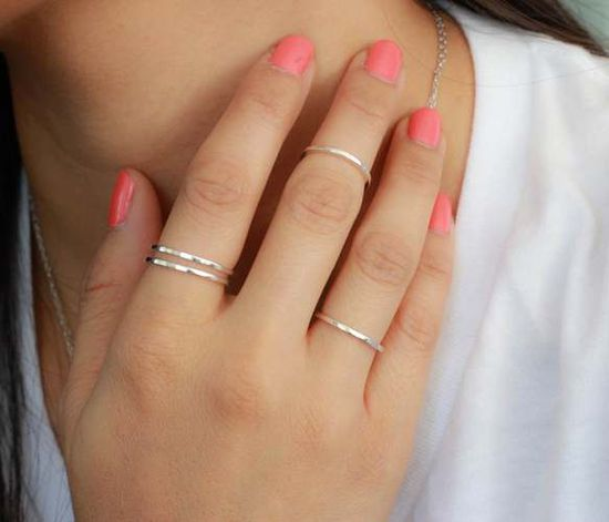 Stacking thin rings