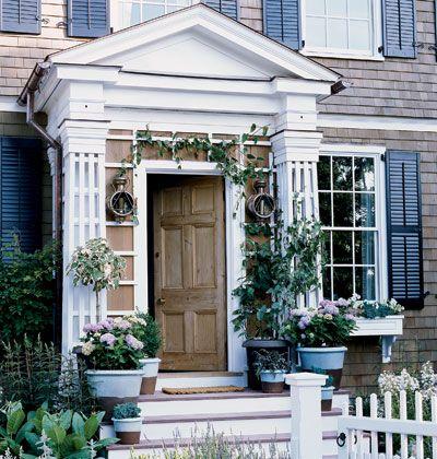 An old front door.