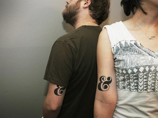 matching ampersand tattoos!