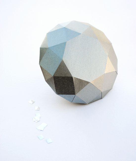 DIY Paper diamond by Jean Carvalho