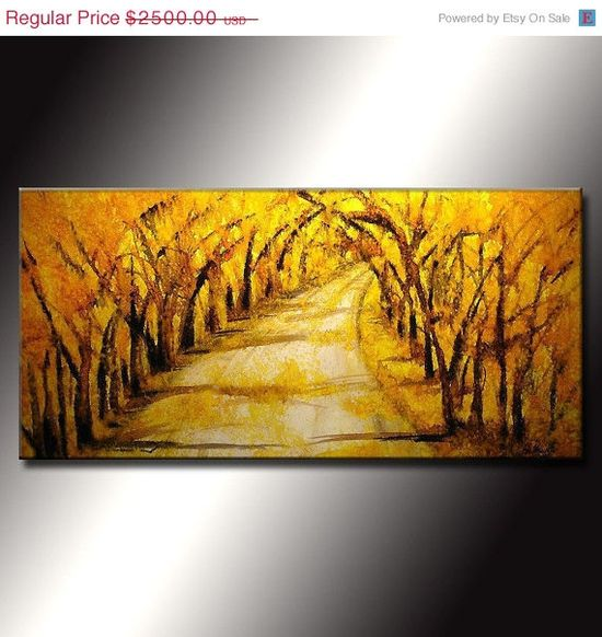 Original  Abstract Landscape Painting Modern by newwaveartgallery, $2125.00