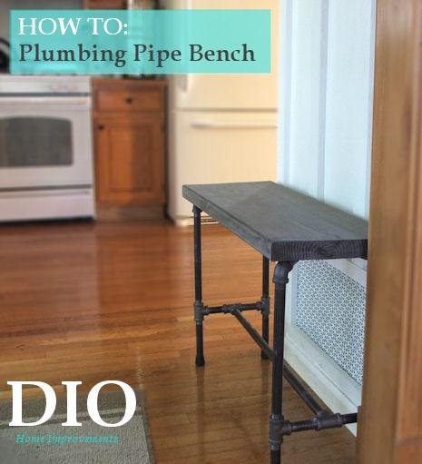 plumbing pipe bench
