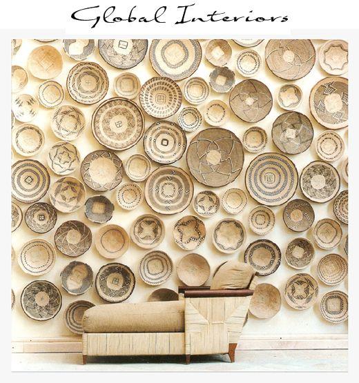 Stephen Falke Interior Design - African modern bohemian living room decor bohemian style interior using African baskets