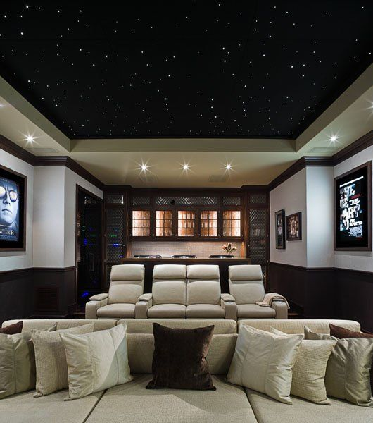 Home Theater  Movie posters on walls