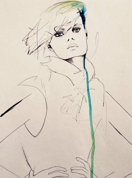 Envie  Fashion Illustration Art Print by LeighViner