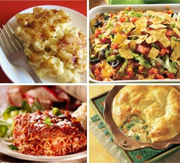 Free downloadable cookbook full of casseroles, one-dish meals, and more!