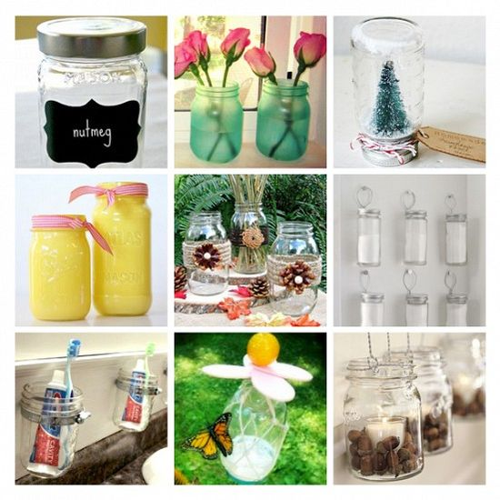 Various uses for mason jars
