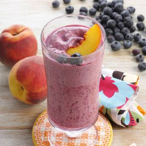 Blueberry Fruit Smoothie Recipe - This calls for reduced fat ice cream but I'll bet it will taste just as wonderful if you use regular ice cream.