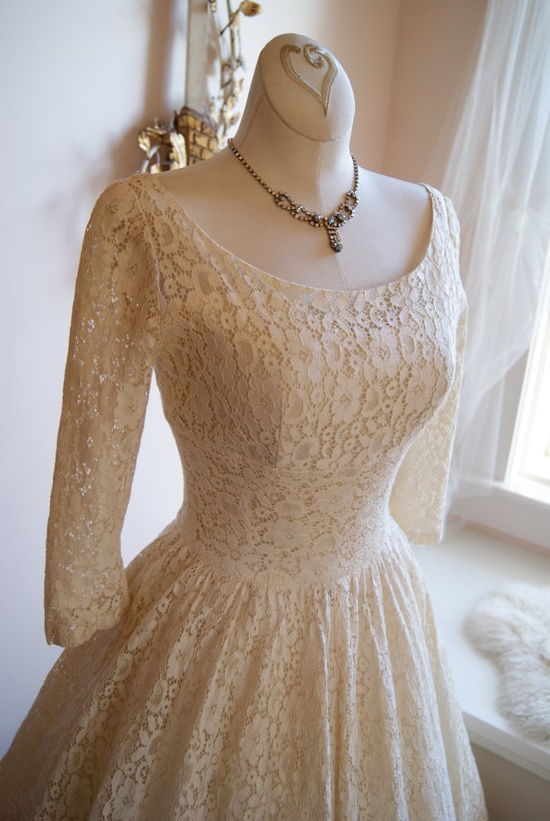 Wedding Dress //  50s Wedding Dress // Vintage by xtabayvintage, $498.00