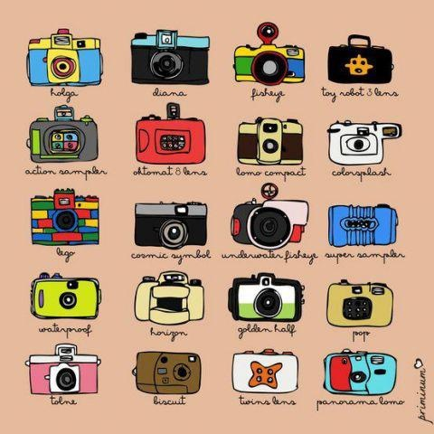 Assorted lomo cameras to capture the different sights of you!