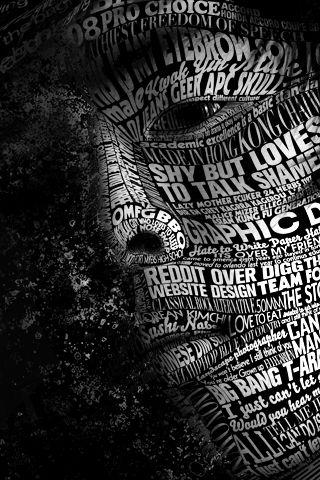 Word Face iPhone Wallpaper HD.