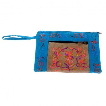 Blue color cosmetic pouch