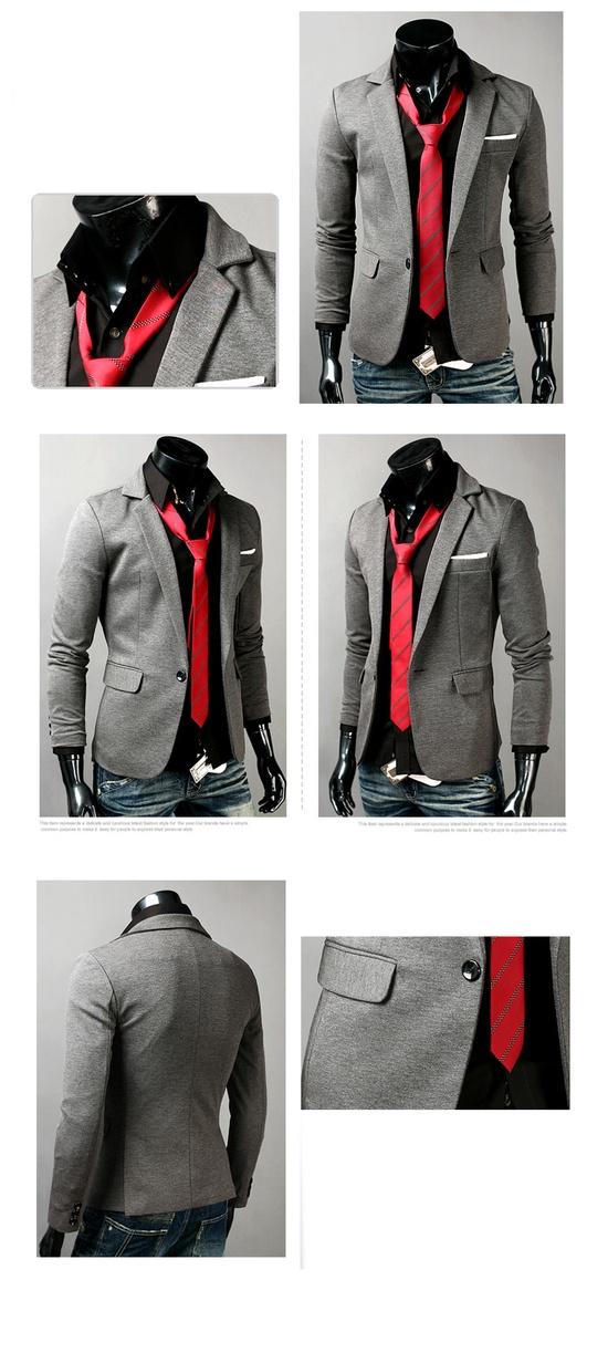 Slim Fit Men New Fashion Blazer