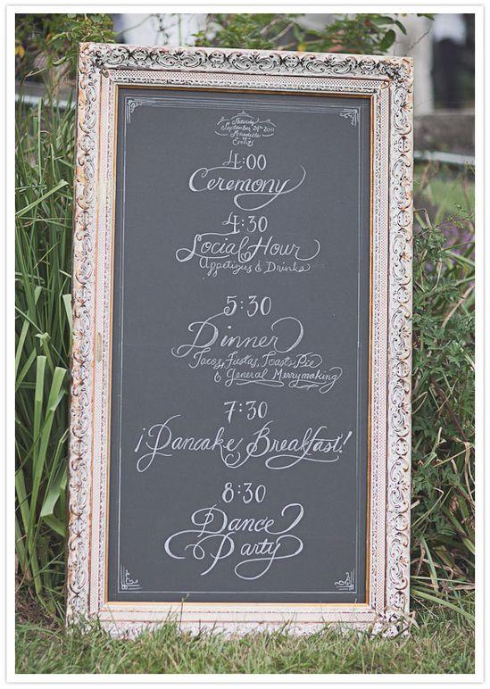 Ornate chalkboard frame program