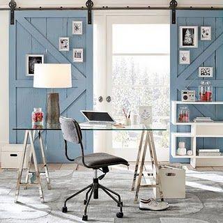 Interior Barn Door ~ Blue