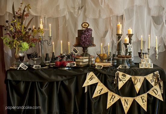 Love this pirate birthday dessert table! See more party ideas on CatchMyParty.com! #pirateparty #dessert table #partyideas #boybirthday