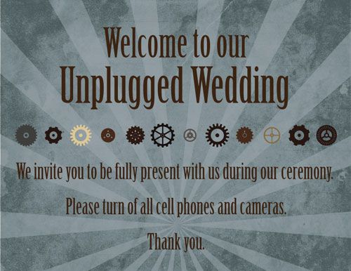 How to have an unplugged wedding: copy 'n' paste wording and templates