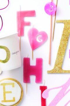 Make-you-own birthday candles - Martha Stewart