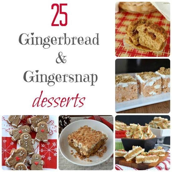 25 Gingerbread Desserts #christmas #dessert #recipes