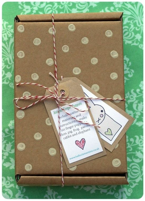 Polka dot packaging. by millie