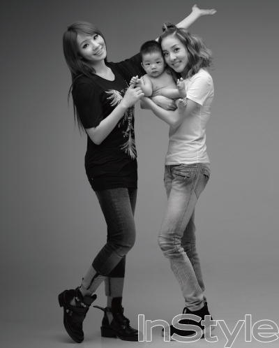 2NE1 with baby up for adoption.