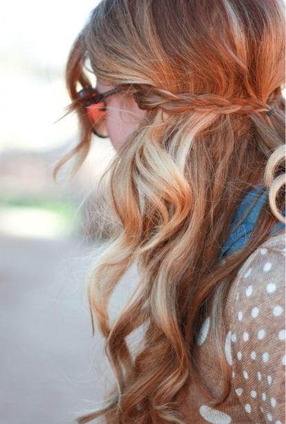 Pretty fall hair style