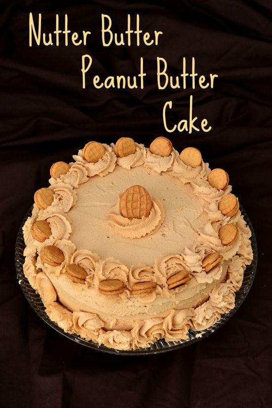 Nutter Butter Peanut Butter Cake on MyRecipeMagic.com