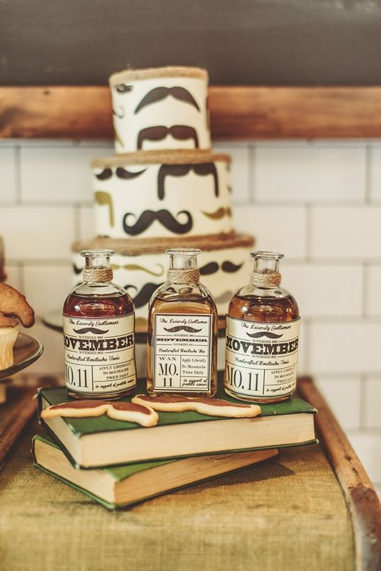 Movember wedding cake and lotions