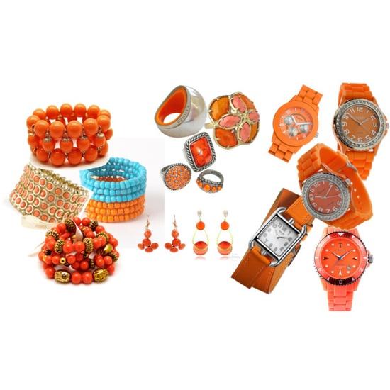 orange jewelry i love