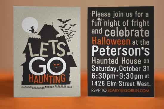 Fun Halloween Invite #Halloween