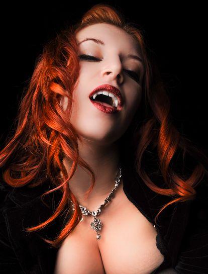Red-haired female vampire