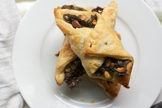 Swiss Chard Turnovers with Parmesan and Pistachios #Recipe