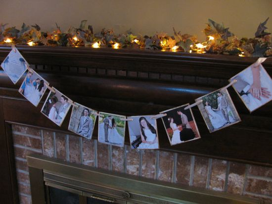 garland of pictures... cute!