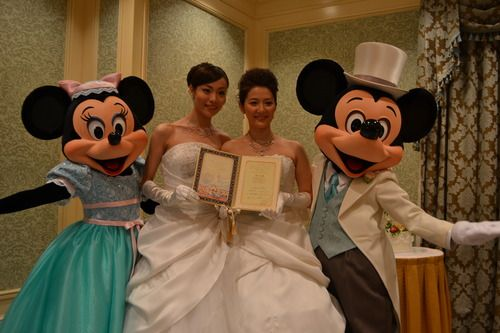 seekbi.com --- First same-sex couple to get married at #Tokyo #Disney! Congratulations to the beautiful brides! #wedding #same-sex #Mickey