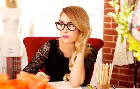 lauren conrad at paper crown office #glasses