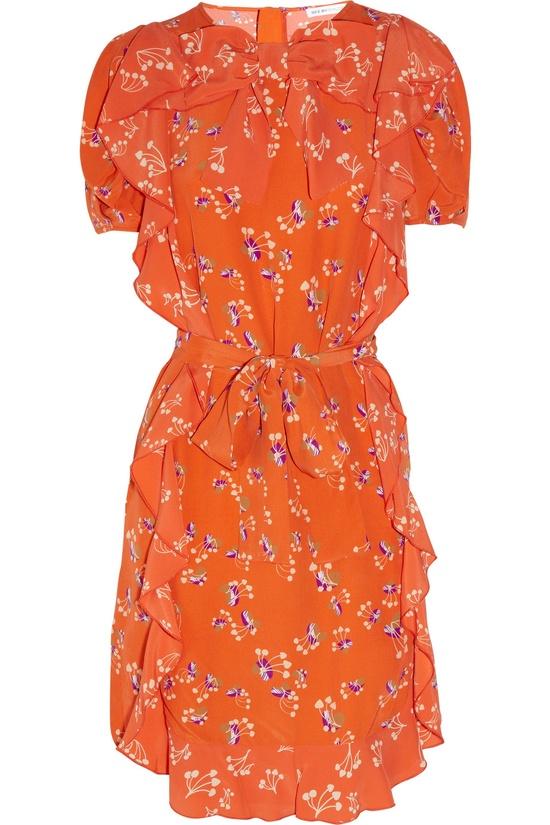 See by Chloé Printed ruffled crepe dress