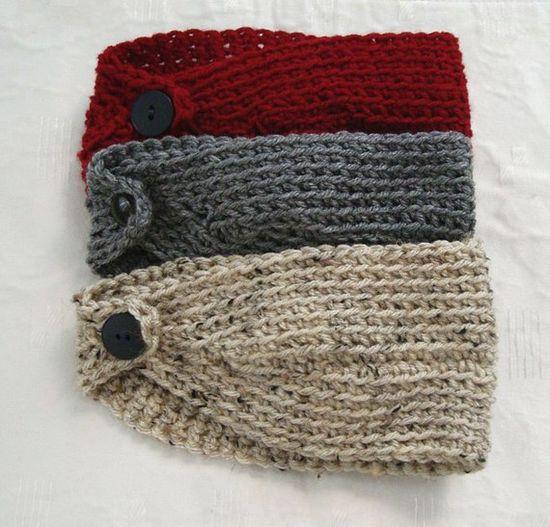 Crocheted head warmers.