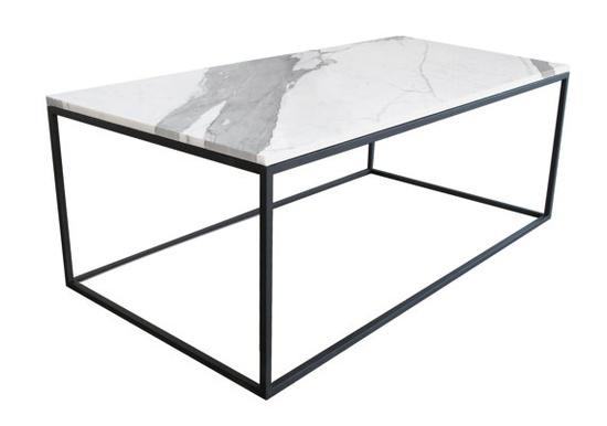 Bespoke statuary marble cocktail table by James Devlin Studio.